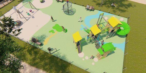vue d'un parc de jeu pour enfants en 3D - Lumion