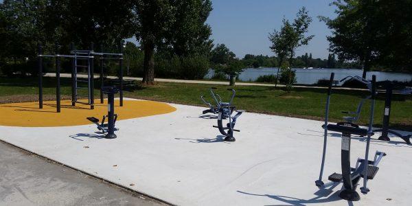 aire de fitness Lac de Sesquière Haute Garonne
