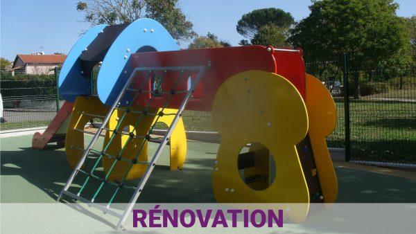 rénovation des aménagement urbain ludique et sportif