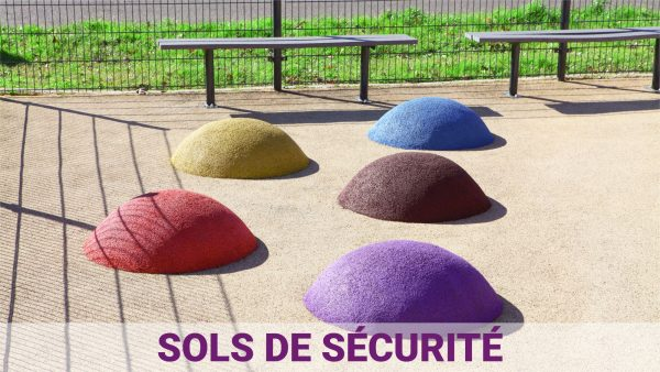 aménagement ludique - sol de sécurité pour aire de jeux